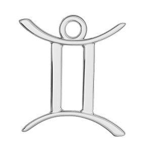 Gemeni pandantiv zodiac, argint 925, ODL-00570