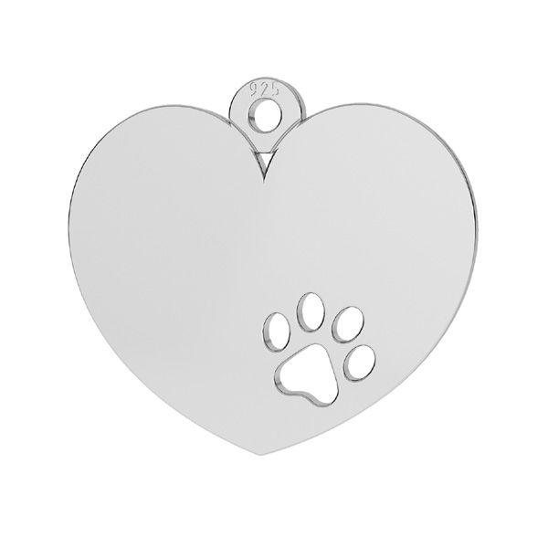 Inimă pandantiv sterling argint, LKM-2295 - 0,50