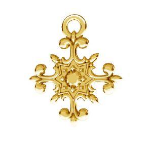 Crucifix pandantiv, argint 925, ODL-00599