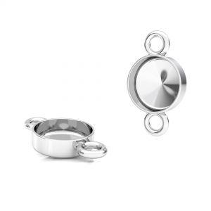 Pandantiv rotund pentru răsină, argint 925, FMG ROUND 7 MM CON 2 - 2,10 MM