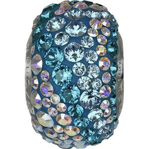 82033 BeCharmed Pavé Water Bead - Crystal, Aquamarine, Blue Zircon