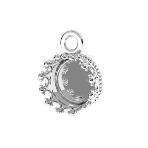 Pandantiv rotund pentru răsină, argint 925, FMG ROUND 7 MM CON 1 - 2,10 MM