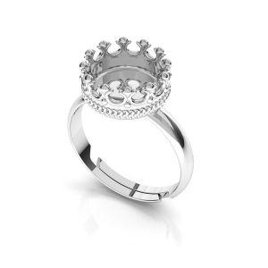 Inel rotunzi pentru răsină, argint 925, ODL-00681 U-RING