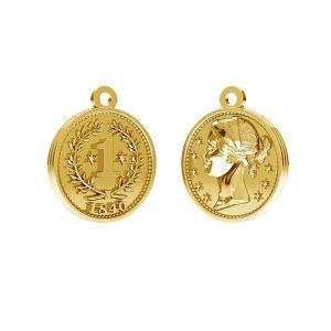 Monedă pandantiv, argint 925, ODL-00012