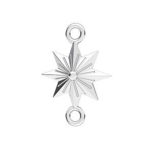 Stea pandantiv*argint 925*ODL-00638 12x17,1 mm