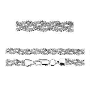 Coreana Brătară*argint 925*PLE CORBD 1,8 3P (18 cm)