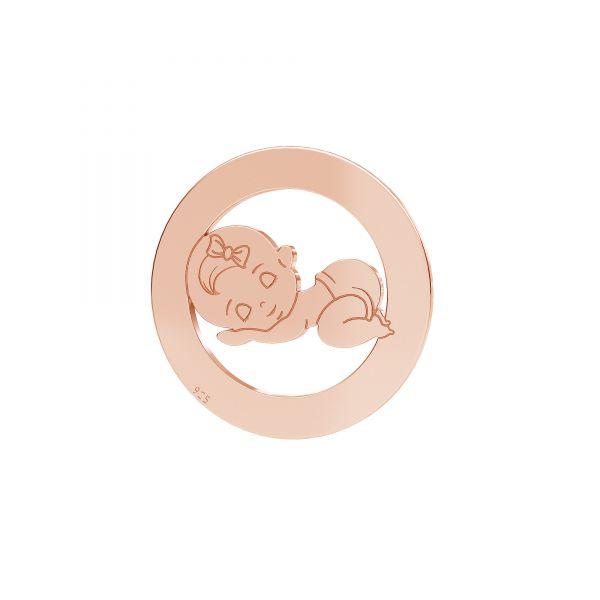 Fată pandantiv*argint 925*LKM-2360 - 0,50 17,5 mm