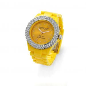 YELLOW MONTRE WATCH BRACELET WITH SWAROVSKI - MODEL 443
