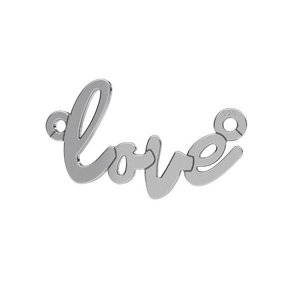Love pandantiv*argint 925*LKM-2397 - 0,50 10x18,7 mm