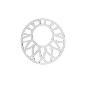 Ajurata pandantiv sterling argint, LKM-2289 - 0,50 20x20 mm