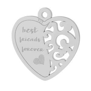 Inimă pandantiv sterling argint, LKM-2043