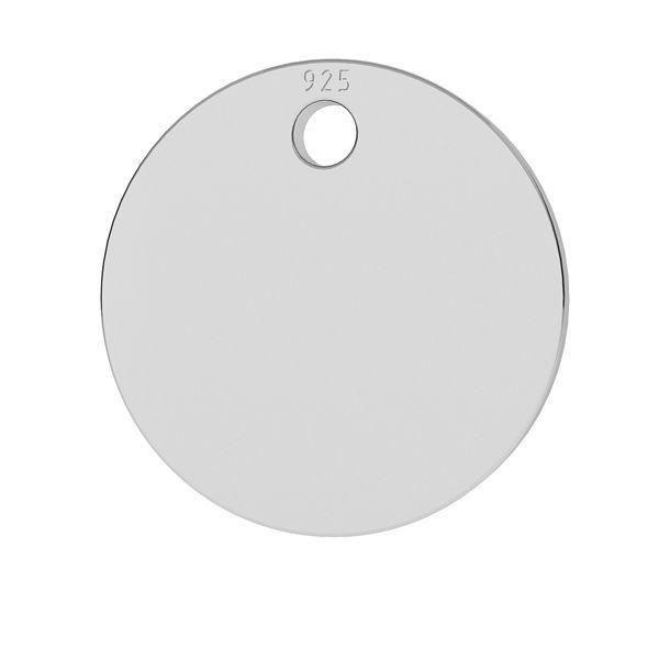 Rundă pandantiv sterling argint, LKM-2001