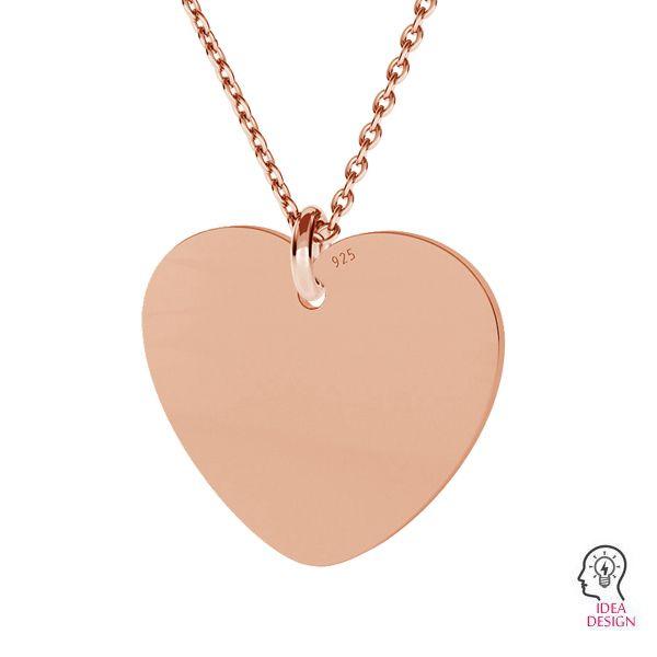 Inimă pandantiv sterling argint, LKM-2012
