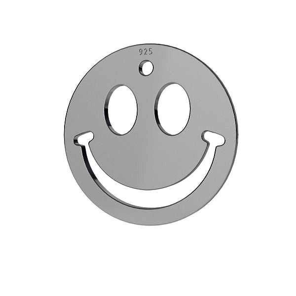 Zâmbet emoticon pandantiv sterling argint, LKM-2025