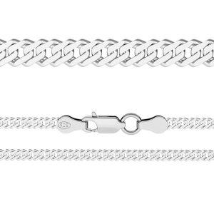 Lany rombo*argint 925*RD 100 6L (38 cm)
