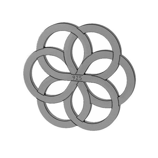 Ajurata pandantiv sterling argint, LKM-2030