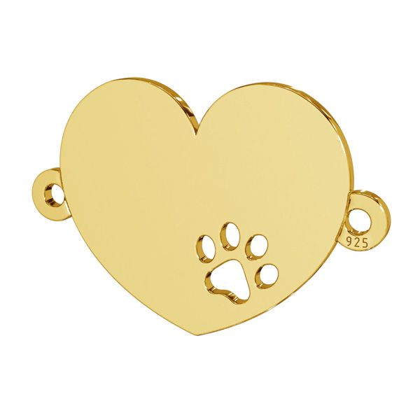 Inimă pandantiv sterling argint, LKM-2605 - 0,50 14x18 mm