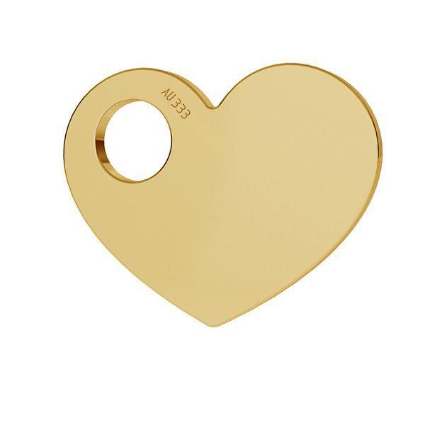 Inimă 8K aur pandantiv LKZ8K-30006 - 0,30 9,4x12 mm