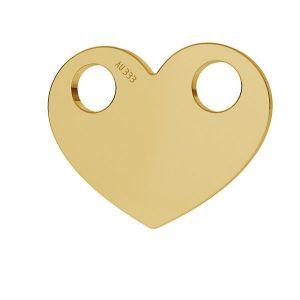 Inimă pandantiv*aur 333*LKZ8K-30007 - 0,30 9,4x12 mm