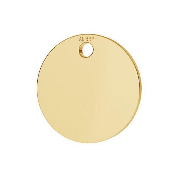 Rotund pandantiv*aur 333*LKZ8K-30010 - 0,30 10x10 mm