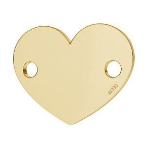 Inimă pandantiv*aur 333*LKZ8K-30018 - 0,30 10x12 mm