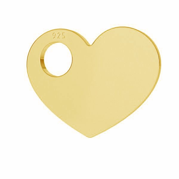 Inimă pandantiv*argint 925*LKM-2623 - 0,50 9,4x12 mm