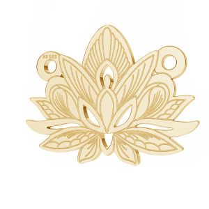 Lotus floare pandantiv*aur 585*LKZ14K-50050 - 0,30 12,3x15,8 mm