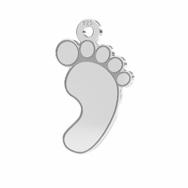 Picioare pentru copii pandantiv sterling argint, LKM-2009 - 05