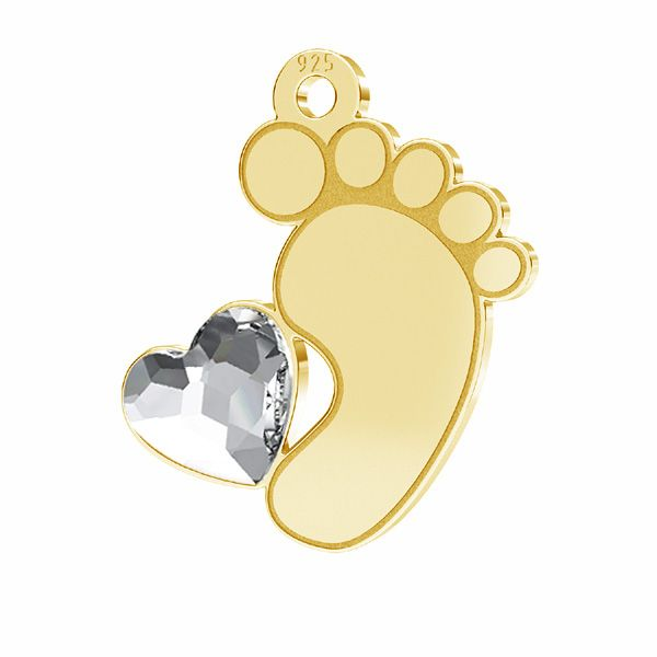 Picioare pentru copii pandantiv*sterling argint 925*LKM-2644 - 0,50 13x14,7 mm
