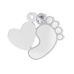 Picioare pentru copii pandantiv*sterling argint 925*LKM-2646 - 0,50 13,2x16,5 mm