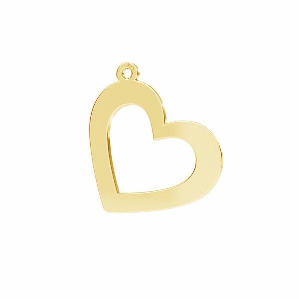 Inimă pandantiv*sterling argint 925*LKM-2634 - 0,50