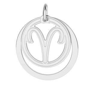 Berbec pandantiv zodiac, argint 925*LKM-2584 - 0,50 18x22 mm