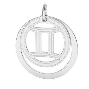 Gemeni pandantiv zodiac, argint 925*LKM-2585 - 0,50 ver.2 18x22 mm