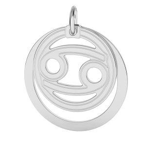 Rac pandantiv zodiac, argint 925*LKM-2589 - 0,50 ver.2 18x22 mm