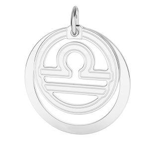 Balanta pandantiv zodiac, argint 925*LKM-2594 - 0,50 ver.2 18x22 mm