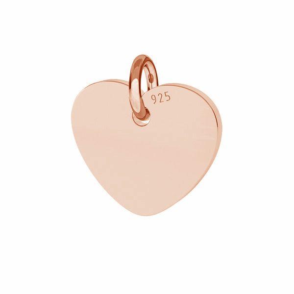 Inimă pandantiv sterling argint, J-LKM-2010 - 0,80 10x11 mm