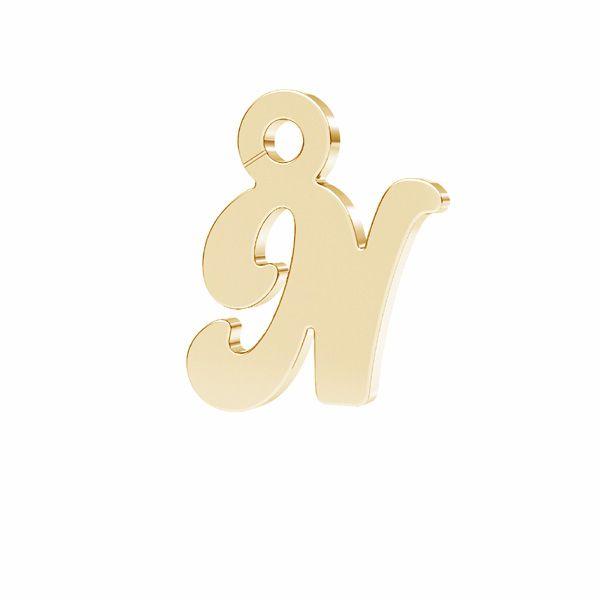 Scrisoare R pandantiv*argint 925*LK-0076 - 0,50 7x9,5 mm