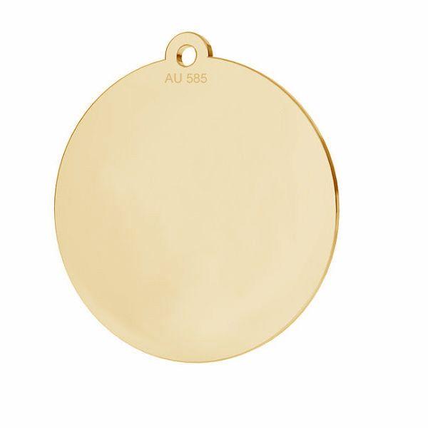 Rundă pandantiv*aur 585*LKZ14K-50088 - 0,30 18x19,5 mm