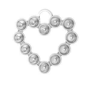 Inimă pandantiv Swarovski pearls, ODL-00789 24x24,5 mm (5818 MM 4)
