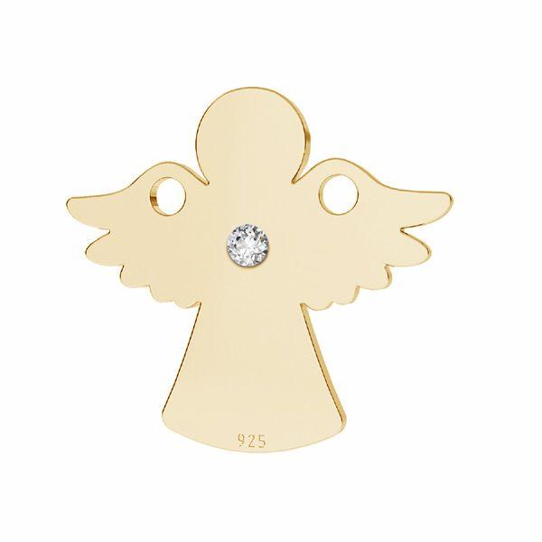 Pandantiv înger cu diamant, argint 925, LKM-2790 - 0,80 13x14,2 mm