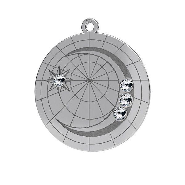 Lună mini pandantiv*argint 925*LKM-2625- 0,50 22x23,5 mm