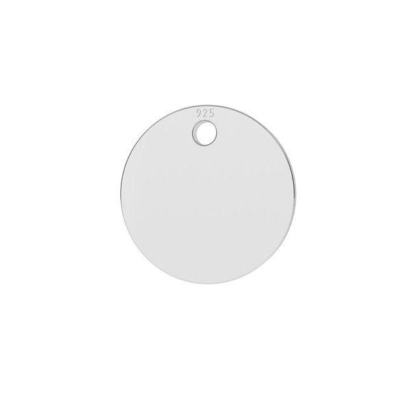 Rundă pandantiv sterling argint, LKM-2013