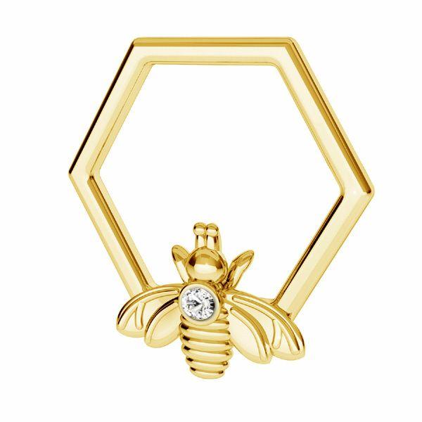 Inimă fagure de miere pandantiv*argint 925*ODL-00671 13,9x15 mm