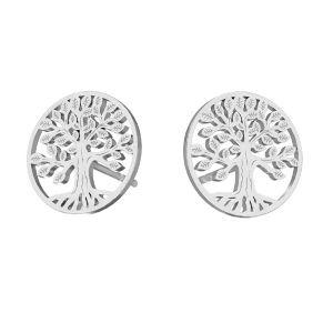 Copac cercei argint 925, KLS LKM-2938 - 0,50 11x11 mm