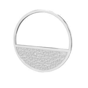 Rundă pandantiv sterling argint, LKM-2745 - 0,50 18x18 mm