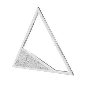 Triunghi pandantiv sterling argint, LKM-2746 - 0,50 17,4x20 mm