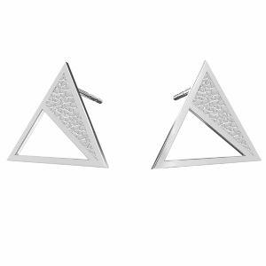 Triunghi cercei argint 925, KLS LKM-2750 - 0,50 11,3x13,1 mm
