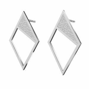 Romb cercei argint 925, KLS LKM-2751 - 0,50 11x19,2 mm