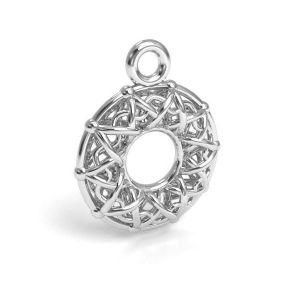 Gogoasa pandantiv argint 925, CON 1 E-PENDANT 666 10,1x12,8 mm