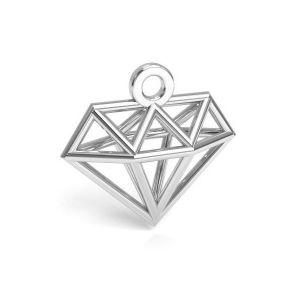 diamant origami pandantiv argint 925, CON 1 E-PENDANT 653 11,9x12,6 mm